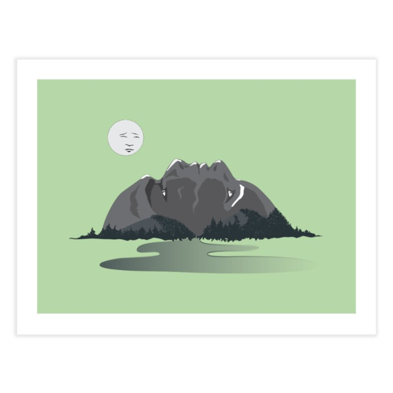 Mountain Faces Home Fine Art Print by Ambivalentine's Shop