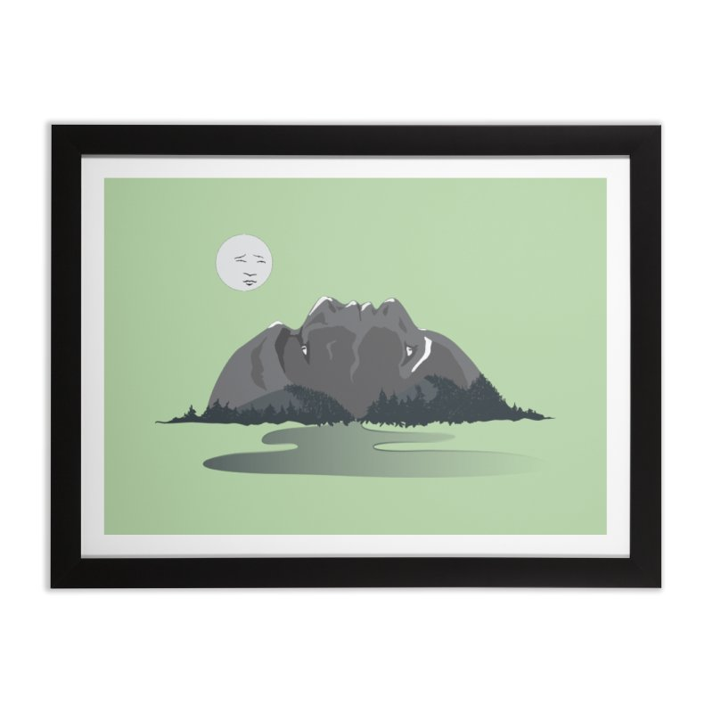 Mountain Faces Home Framed Fine Art Print by Ambivalentine's Shop