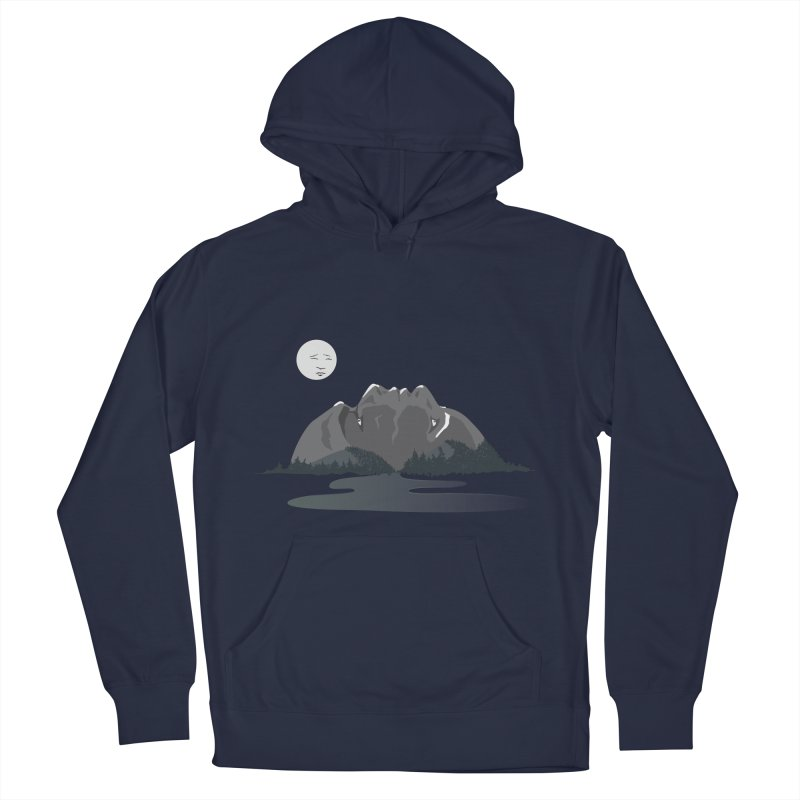 Mountain Faces Women's French Terry Pullover Hoody by Ambivalentine's Shop