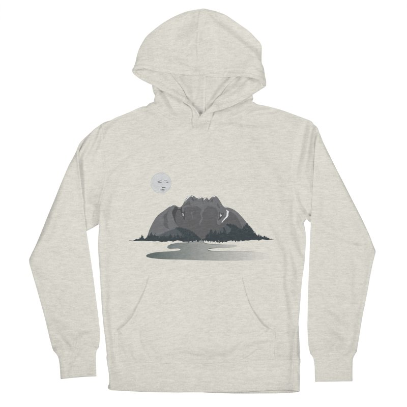 Mountain Faces Men's French Terry Pullover Hoody by Ambivalentine's Shop