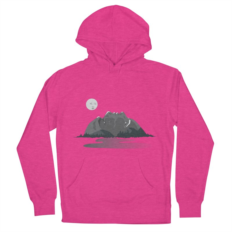 Mountain Faces Men's Pullover Hoody by Ambivalentine's Shop