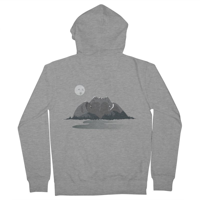 Mountain Faces Women's French Terry Zip-Up Hoody by Ambivalentine's Shop