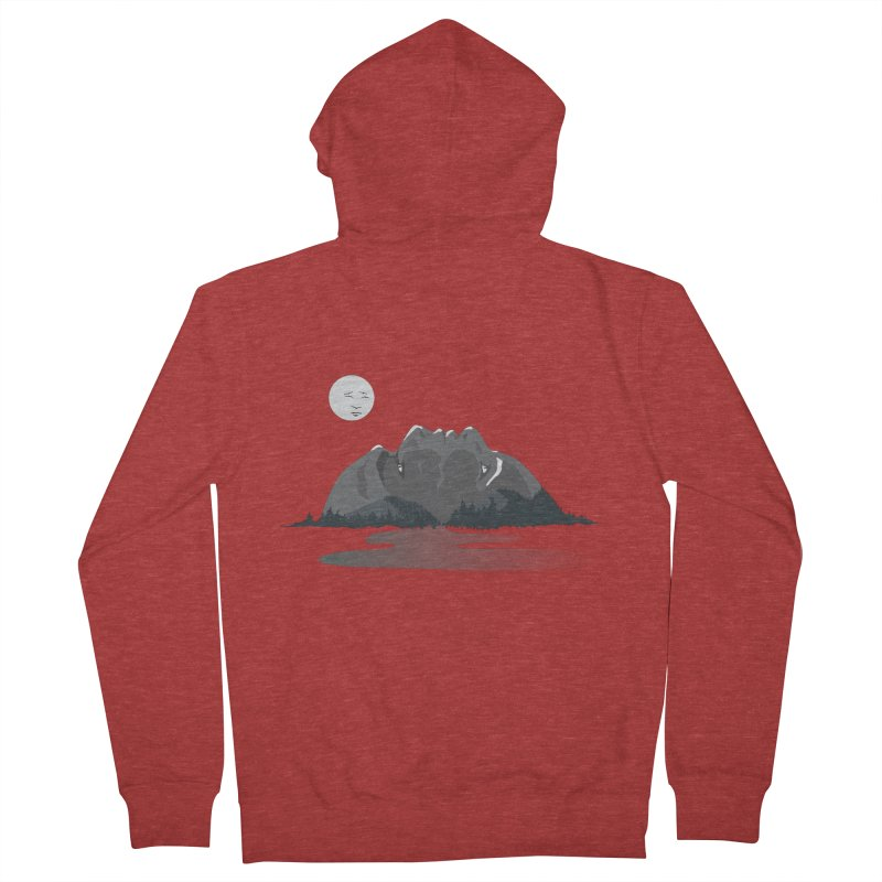 Mountain Faces Women's Zip-Up Hoody by Ambivalentine's Shop