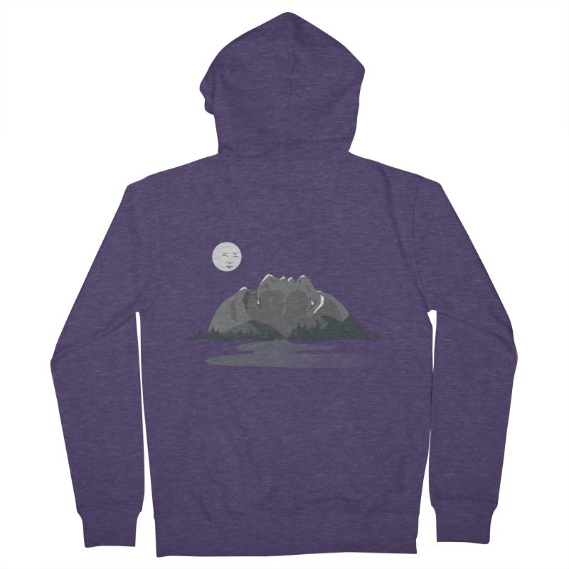 Mountain Faces Men's Zip-Up Hoody by Ambivalentine's Shop