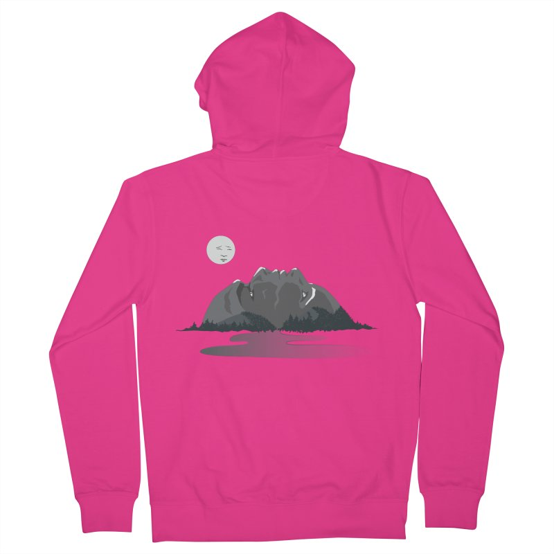 Mountain Faces Men's French Terry Zip-Up Hoody by Ambivalentine's Shop