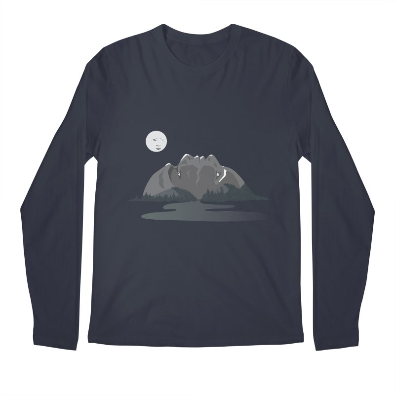 Mountain Faces Men's Regular Longsleeve T-Shirt by Ambivalentine's Shop