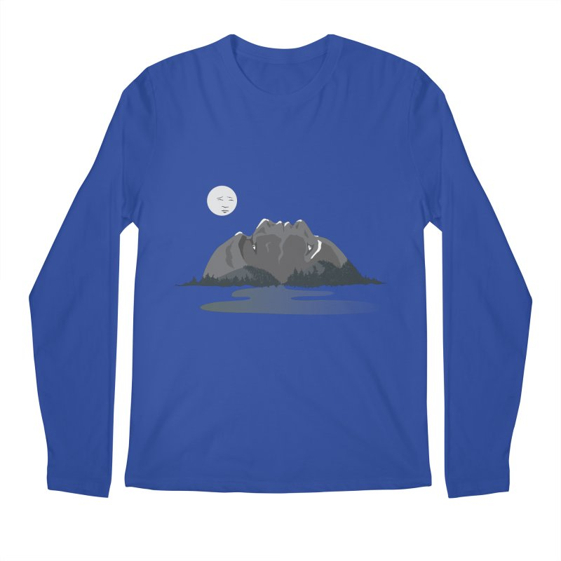 Mountain Faces Men's Longsleeve T-Shirt by Ambivalentine's Shop