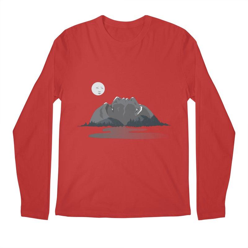 Mountain Faces Men's Regular Longsleeve T-Shirt by Ambivalentine's Shop