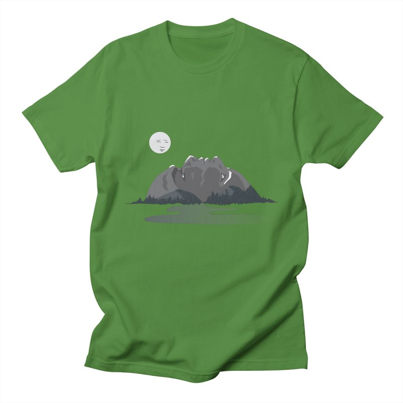 Mountain Faces Men's Regular T-Shirt by Ambivalentine's Shop