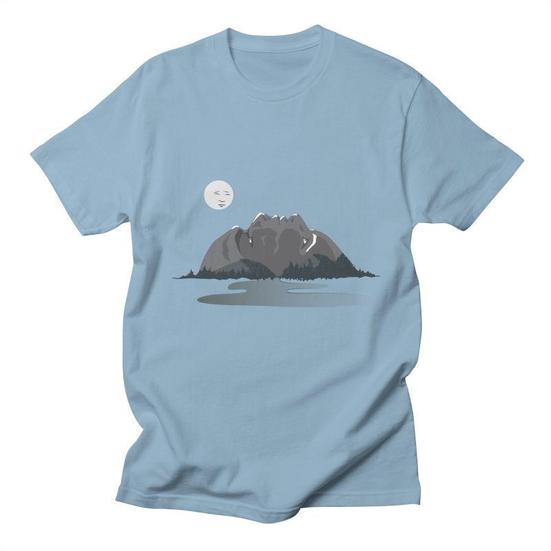 Mountain Faces Men's T-Shirt by Ambivalentine's Shop