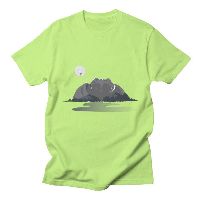Mountain Faces Men's Regular T-Shirt by Ambivalentine's Shop