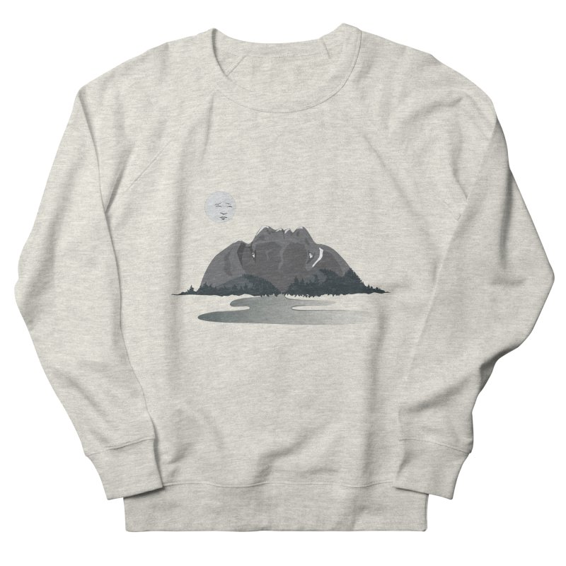 Mountain Faces Men's French Terry Sweatshirt by Ambivalentine's Shop