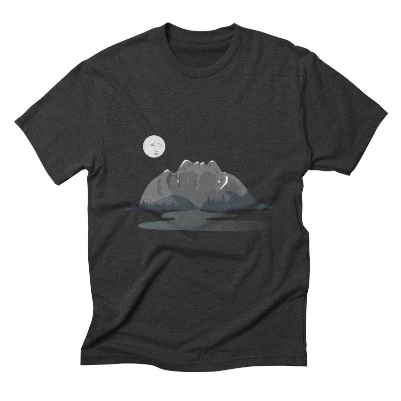 Mountain Faces Men's Triblend T-Shirt by Ambivalentine's Shop