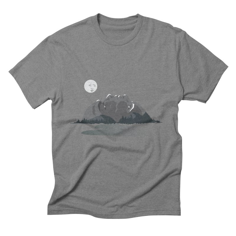 Mountain Faces Men's Triblend T-Shirt by Ambivalentine's Shop