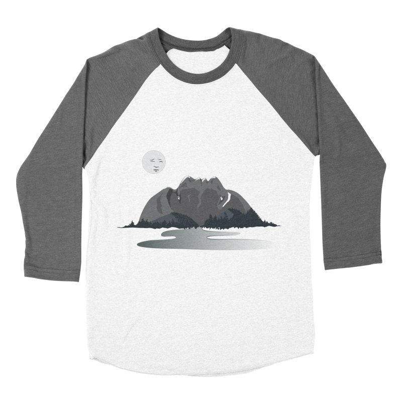 Mountain Faces Men's Baseball Triblend Longsleeve T-Shirt by Ambivalentine's Shop