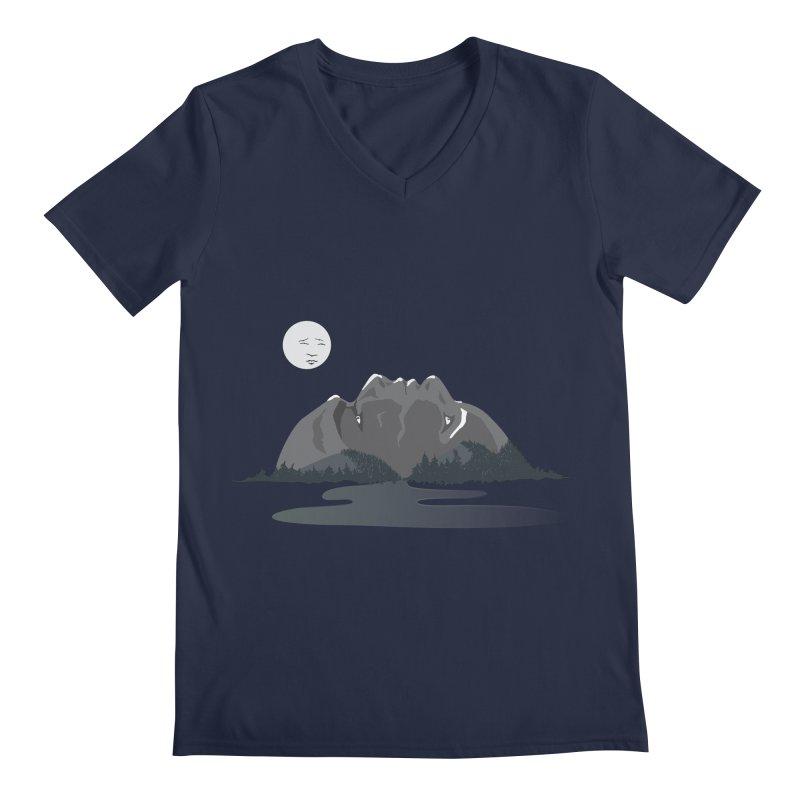 Mountain Faces Men's V-Neck by Ambivalentine's Shop