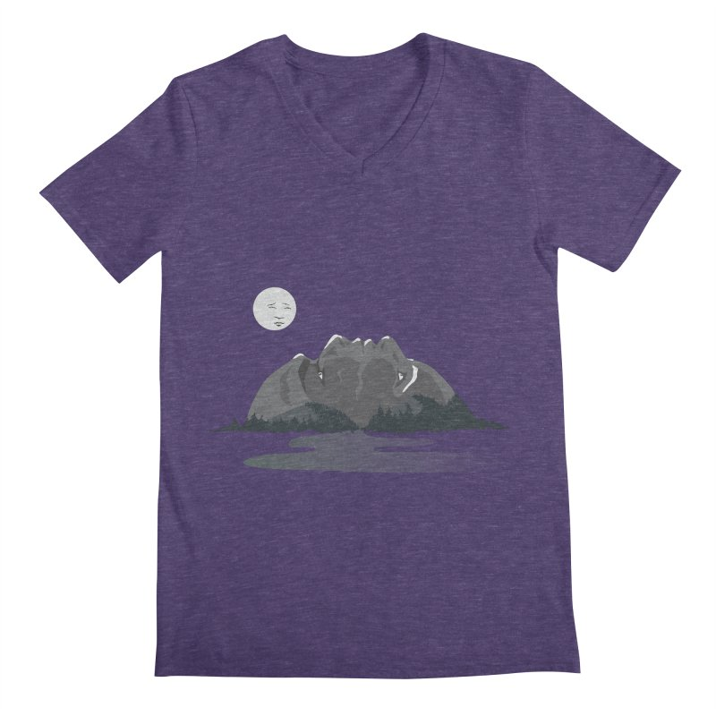 Mountain Faces Men's V-Neck by Ambivalentine's Shop