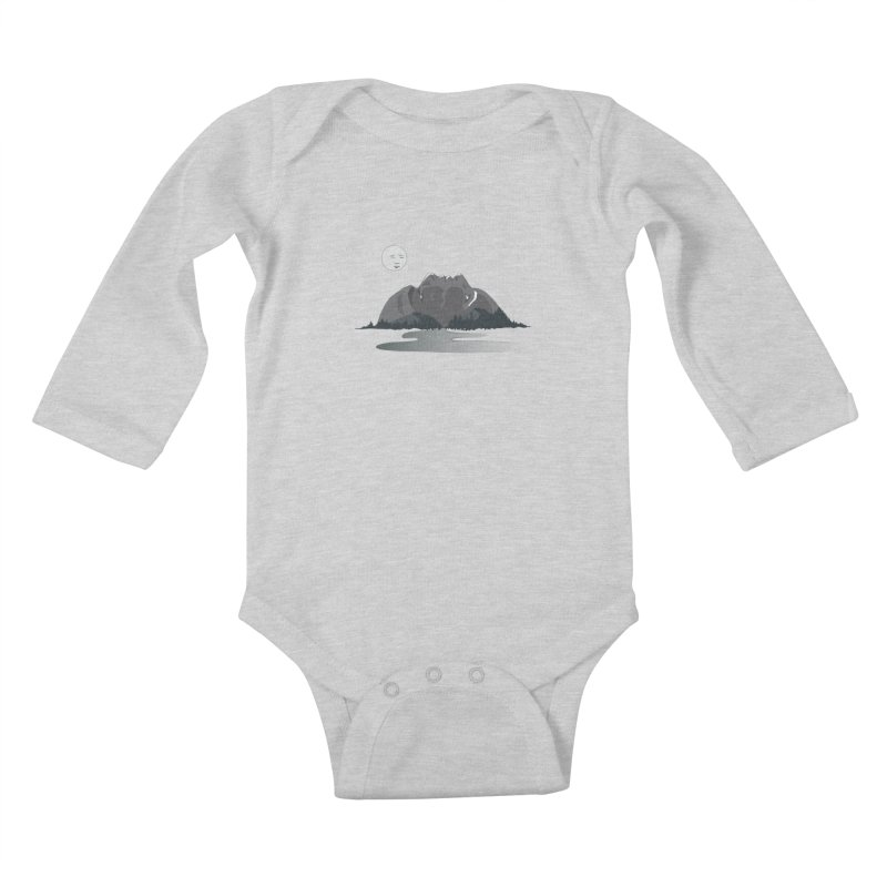 Mountain Faces Kids Baby Longsleeve Bodysuit by Ambivalentine's Shop