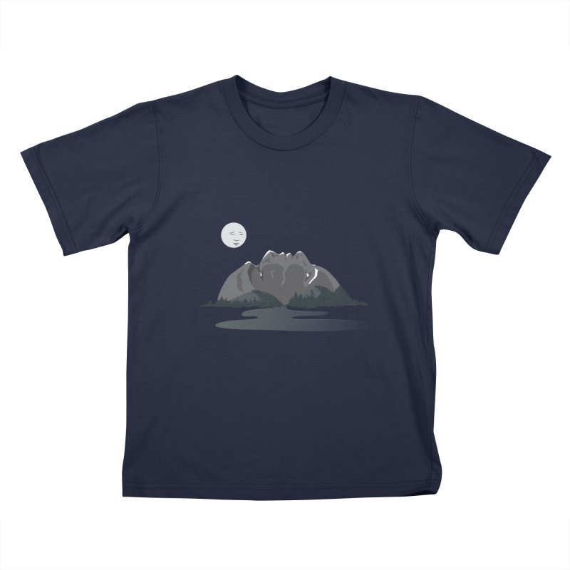 Mountain Faces Kids T-Shirt by Ambivalentine's Shop