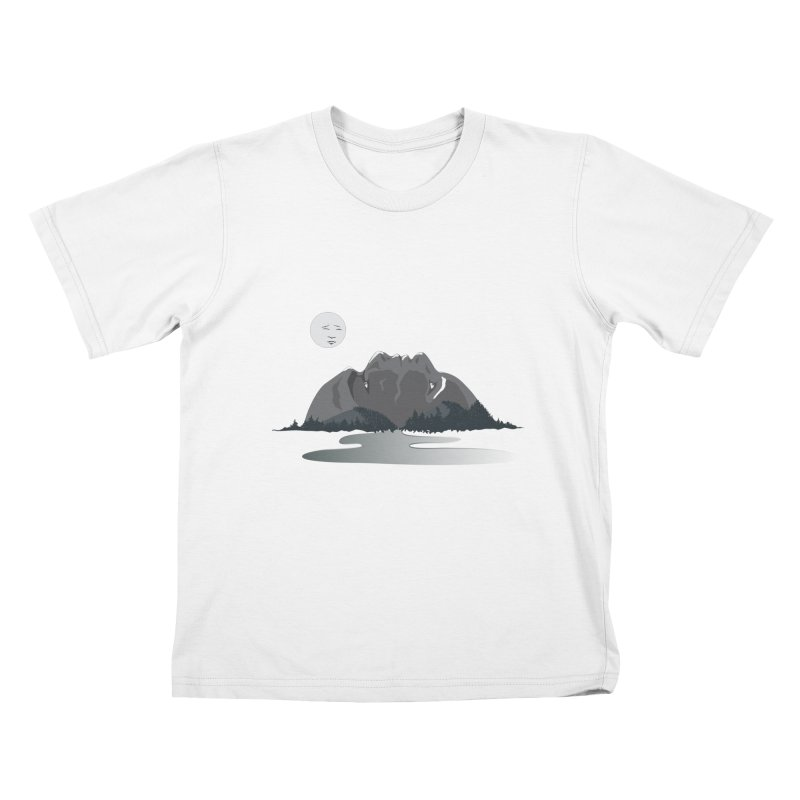 Mountain Faces Kids T-Shirt by Ambivalentine's Shop