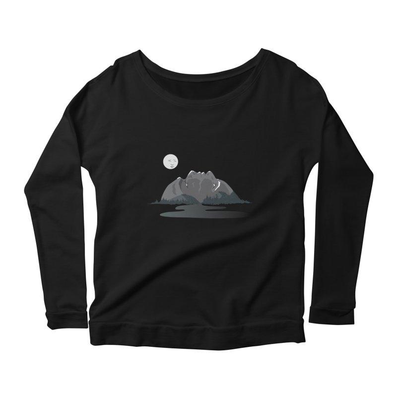 Mountain Faces Women's Scoop Neck Longsleeve T-Shirt by Ambivalentine's Shop