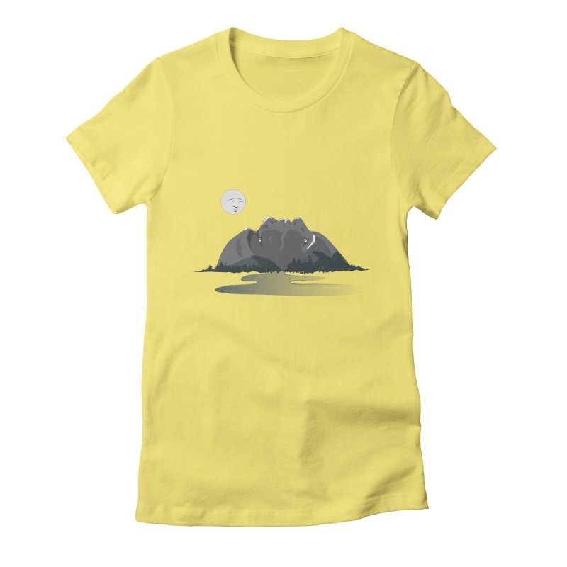 Mountain Faces Women's Fitted T-Shirt by Ambivalentine's Shop