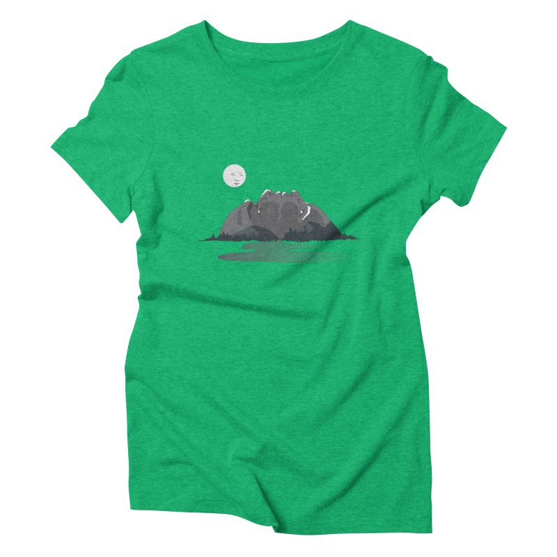 Mountain Faces Women's Triblend T-Shirt by Ambivalentine's Shop