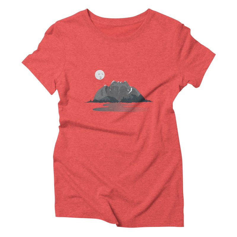 Mountain Faces Women's Triblend T-Shirt by Ambivalentine's Shop