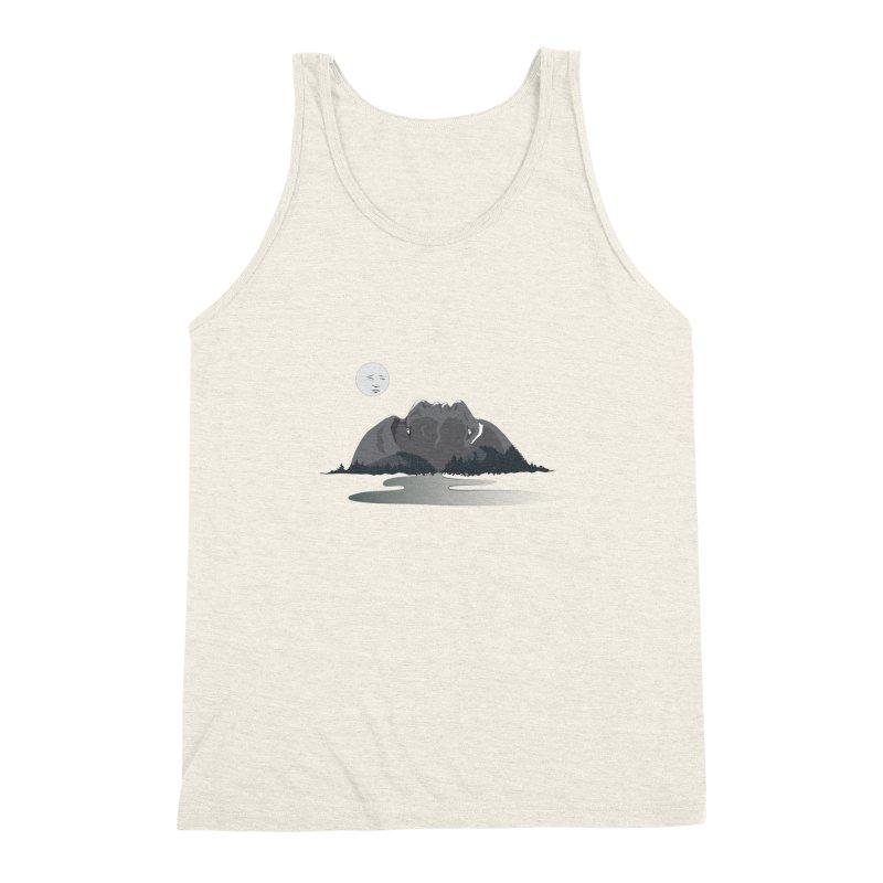 Mountain Faces Men's Triblend Tank by Ambivalentine's Shop