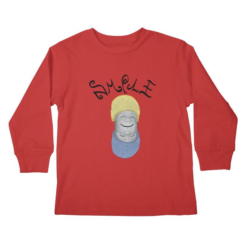Frown Upside Down! Kids Longsleeve T-Shirt by Ambivalentine's Shop