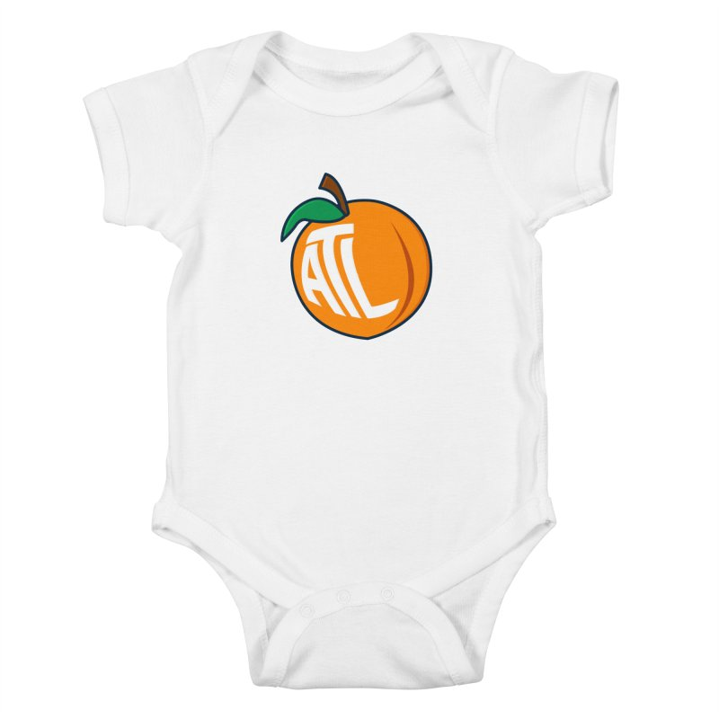 ATL Peach Emoji Kids Baby Bodysuit by