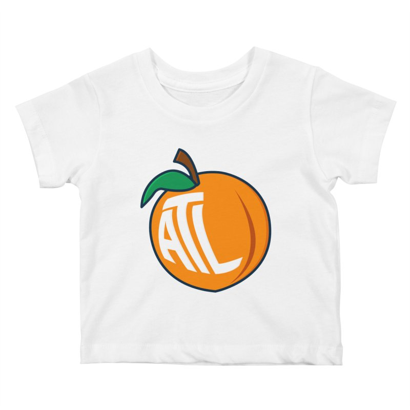 ATL Peach Emoji Kids Baby T-Shirt by