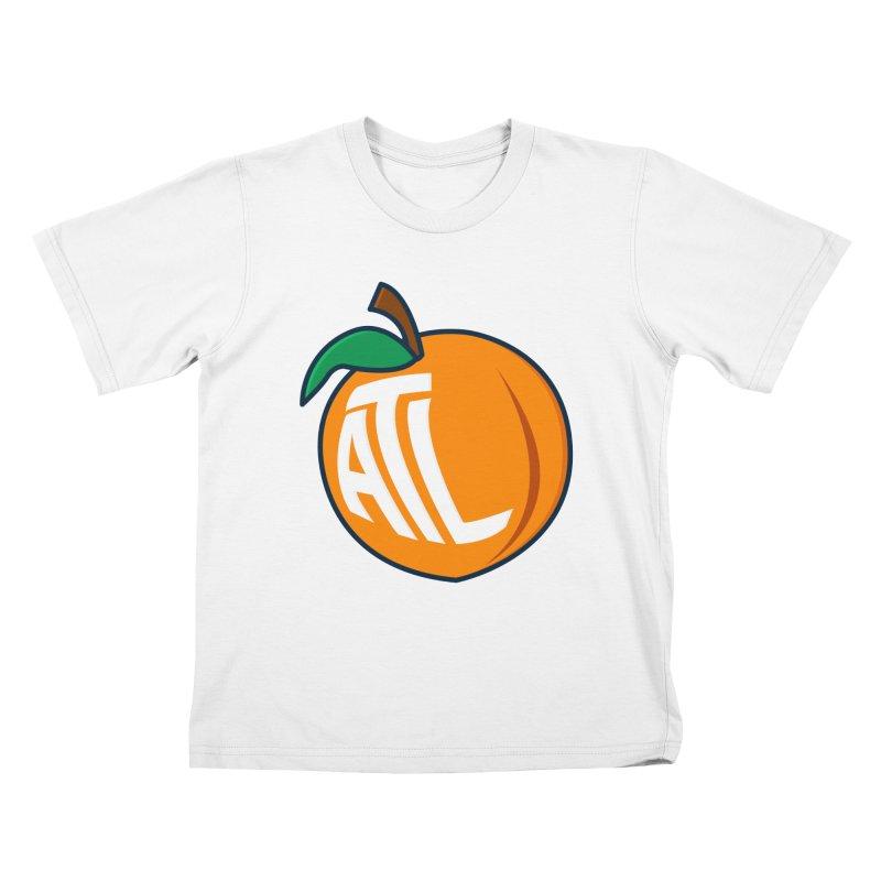 ATL Peach Emoji Kids T-Shirt by