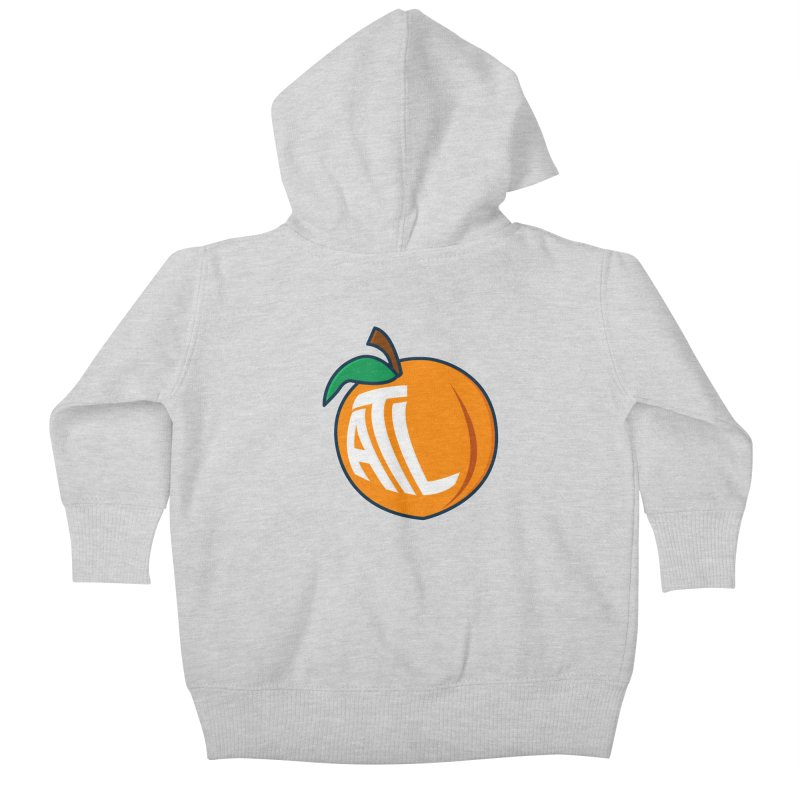 ATL Peach Emoji Kids Baby Zip-Up Hoody by