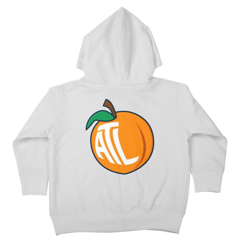 ATL Peach Emoji Kids Toddler Zip-Up Hoody by