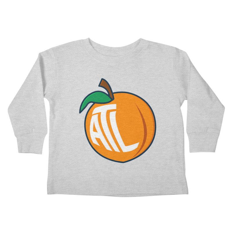 ATL Peach Emoji Kids Toddler Longsleeve T-Shirt by
