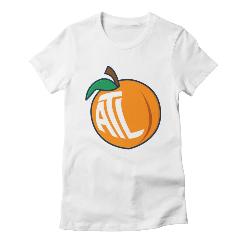 ATL Peach Emoji Women's Fitted T-Shirt by