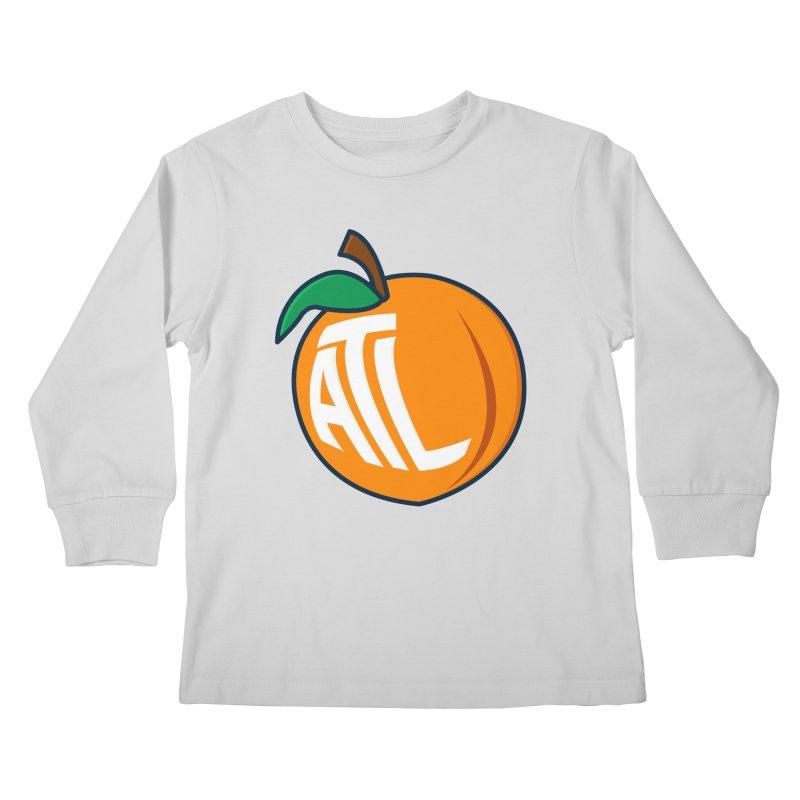 ATL Peach Emoji Kids Longsleeve T-Shirt by