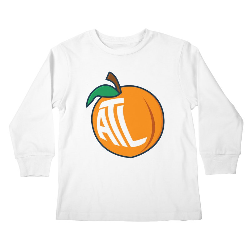 ATL Peach Emoji Kids Longsleeve T-Shirt by