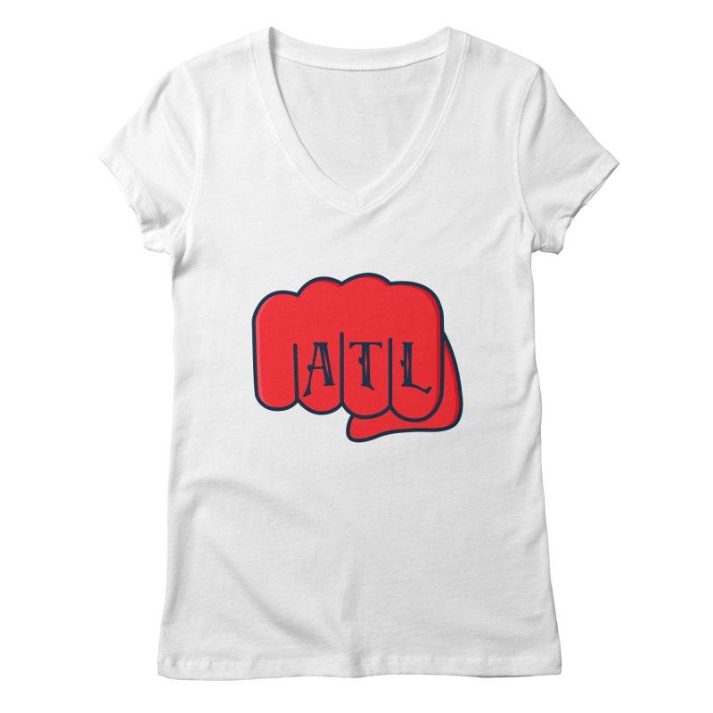 ATL Fist Women's Regular V-Neck by