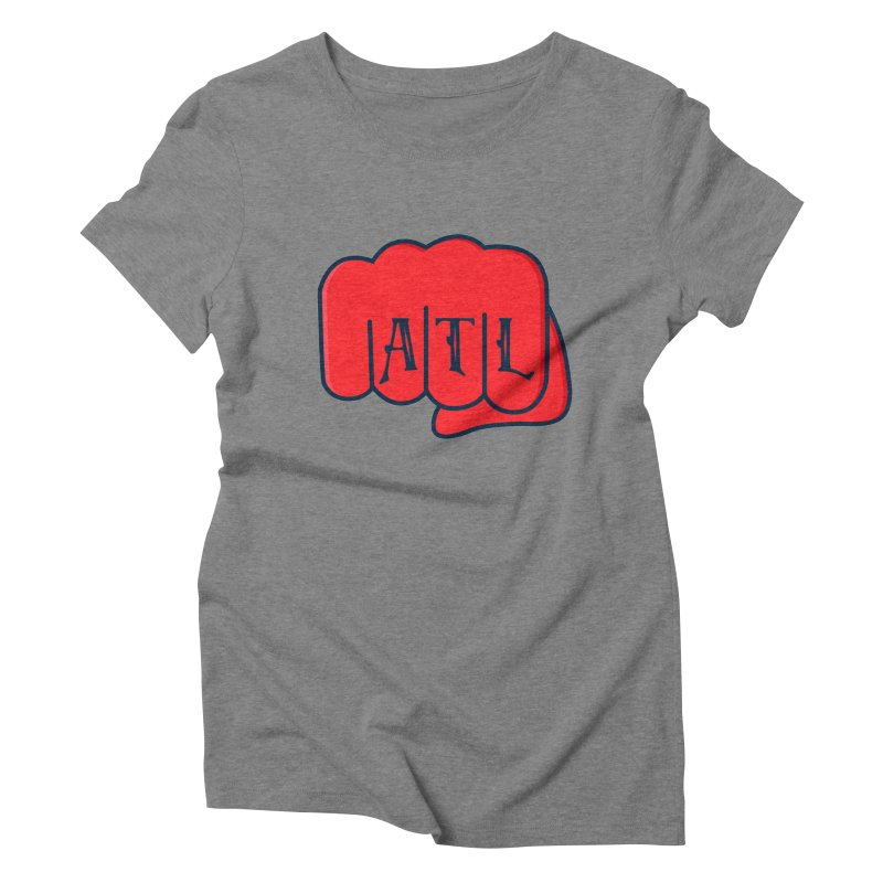 ATL Fist Women's Triblend T-Shirt by