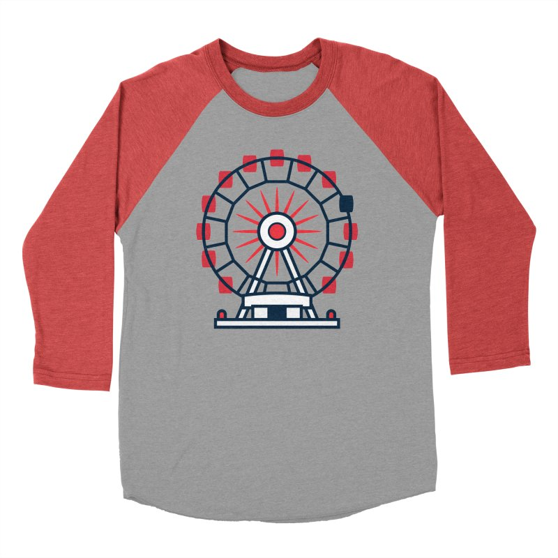 Atlanta Ferris Wheel Women's Baseball Triblend Longsleeve T-Shirt by