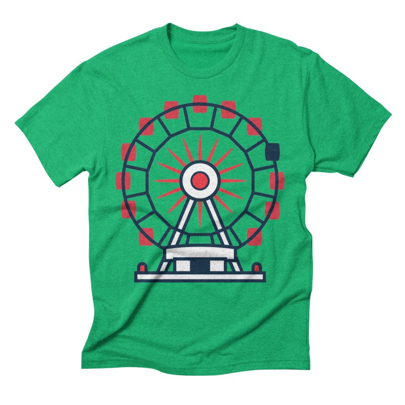 Atlanta Ferris Wheel Men's Triblend T-Shirt by