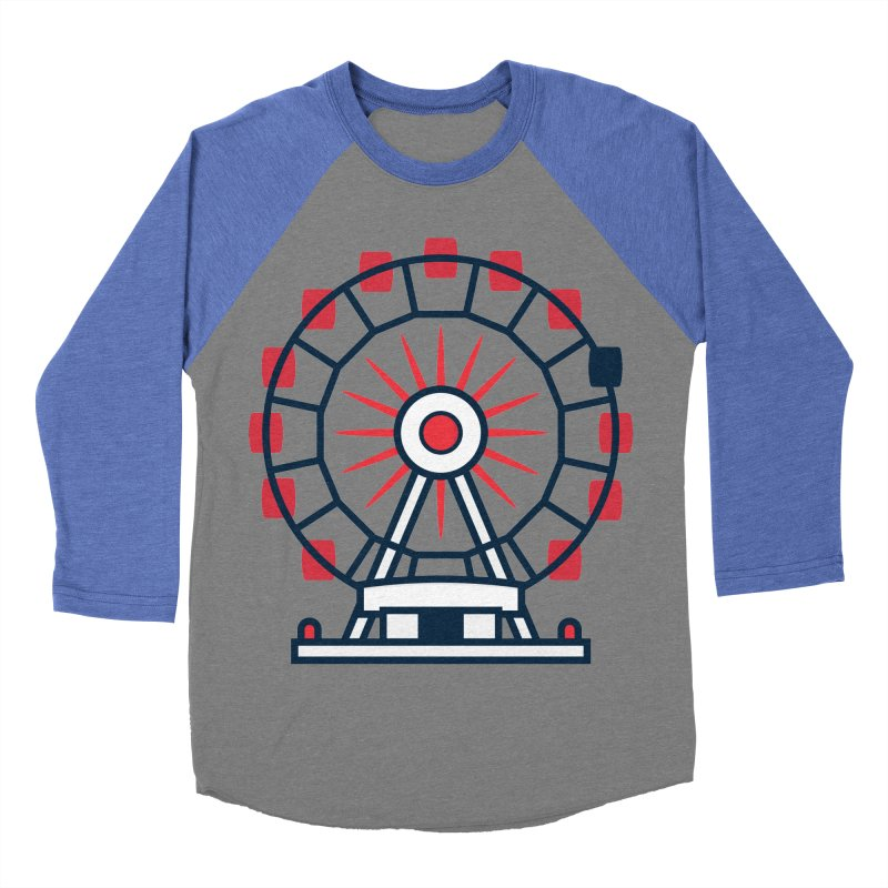 Atlanta Ferris Wheel Men's Baseball Triblend Longsleeve T-Shirt by