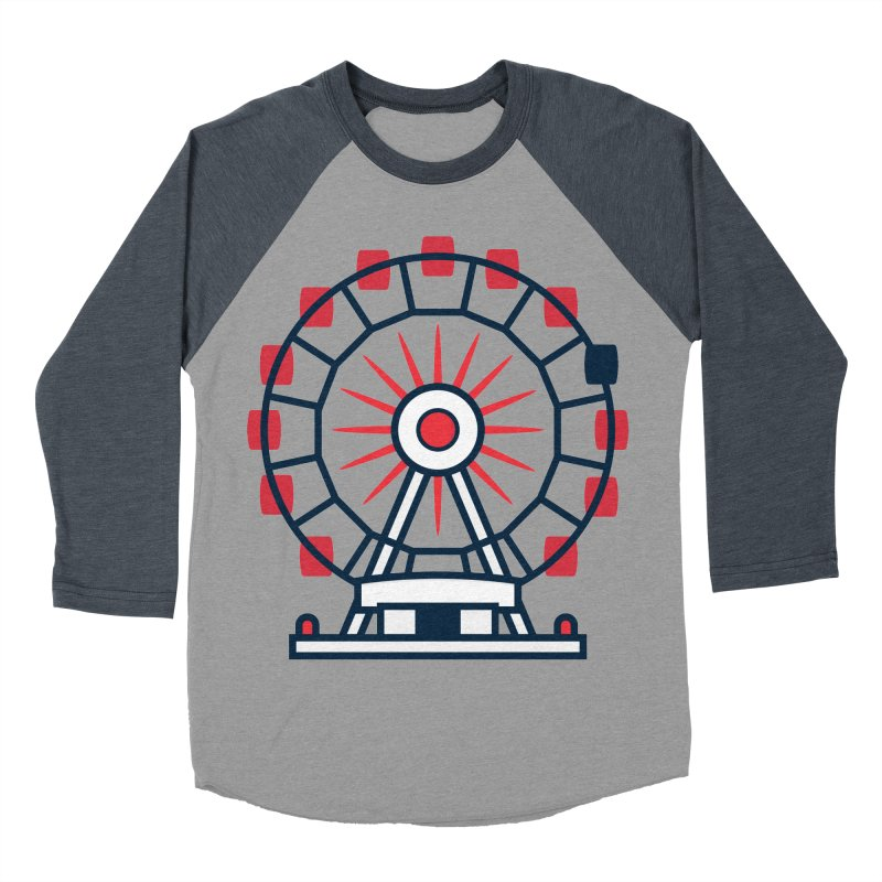 Atlanta Ferris Wheel Men's Baseball Triblend Longsleeve T-Shirt by