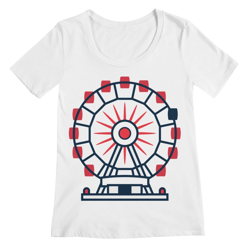Atlanta Ferris Wheel Women's Regular Scoop Neck by