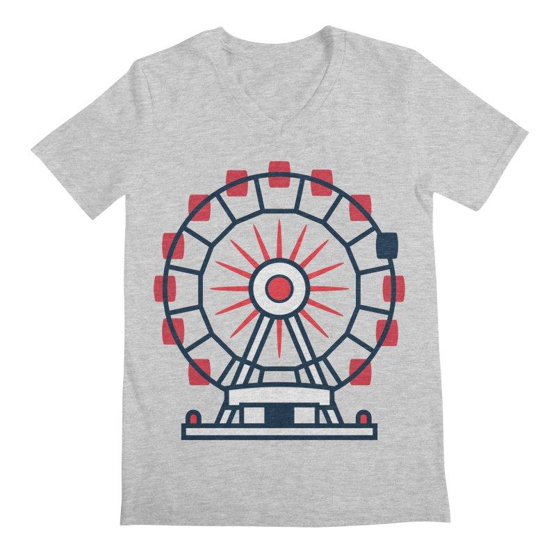 Atlanta Ferris Wheel Men's Regular V-Neck by