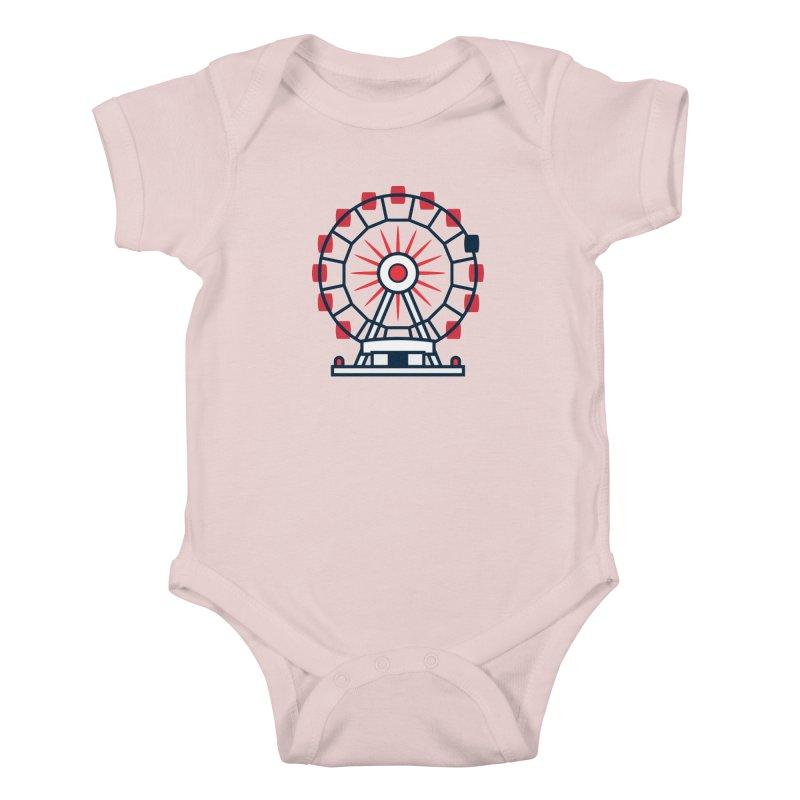 Atlanta Ferris Wheel Kids Baby Bodysuit by