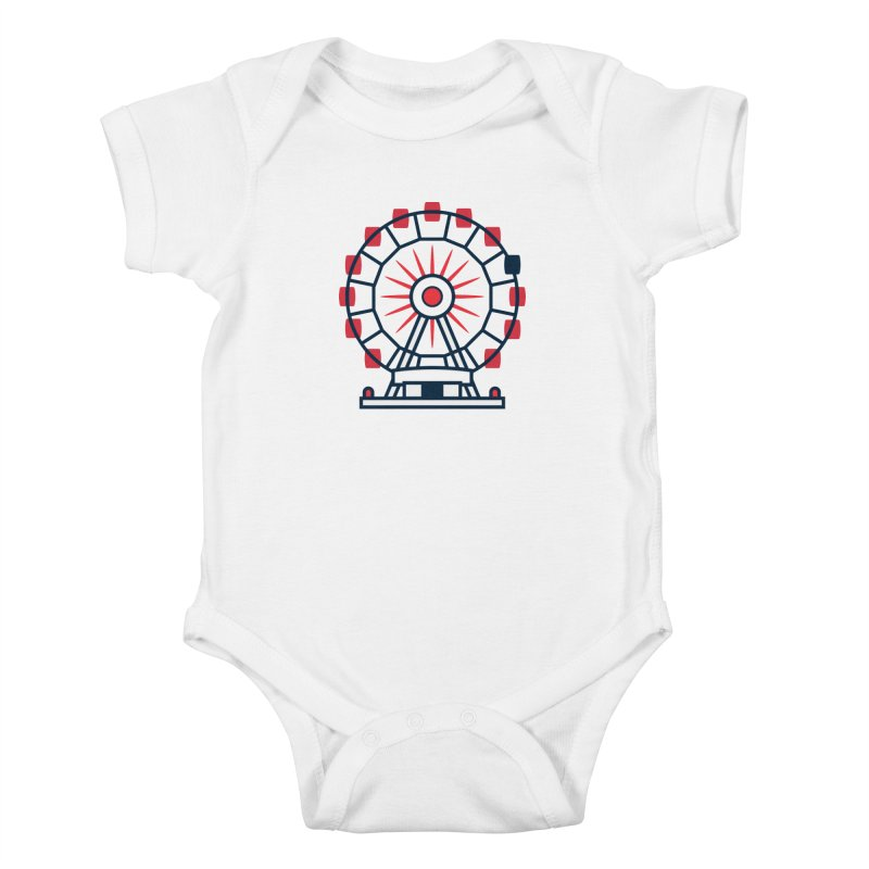 Atlanta Ferris Wheel Kids Baby Bodysuit by