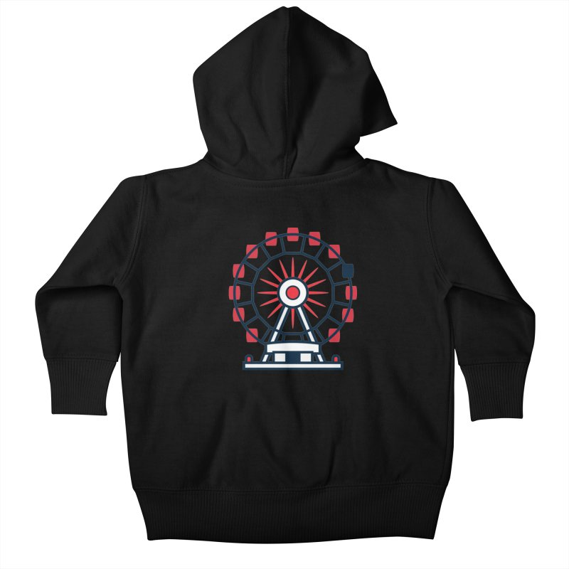 Atlanta Ferris Wheel Kids Baby Zip-Up Hoody by